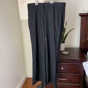 Theory black wool dress pants size 8